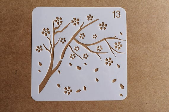 Feathers and Leaves stencil,tree Bullet Journal Stencil,Planner Accessory,scrapbooking stencil
