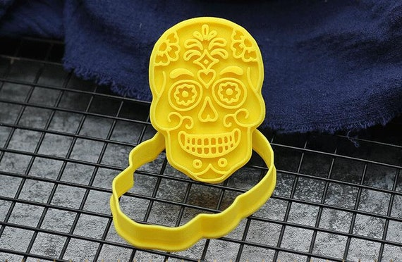 Sugar Skull Day of the Dead Cookie Cutter Baking Tool Ceramics and Pottery