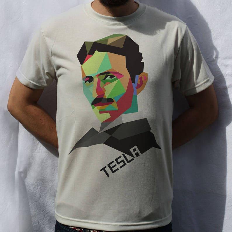c84919cc Nikola Tesla T-Shirt Design | Etsy
