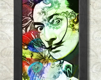 Salvador Dali print + 3 for 2 offer! size A3+  33 x 48 cm;  13 x 19 in