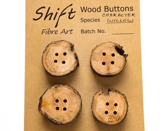 Handmade Live Edge Wood Buttons with Character