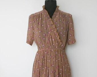 Vintage Floral Day Dress