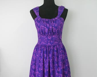 1980's Summer Cotton Party Dress