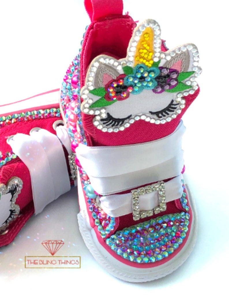 843daadcb4f8 Unicorn Bling Converse Kids Bling Converse Baby Bling