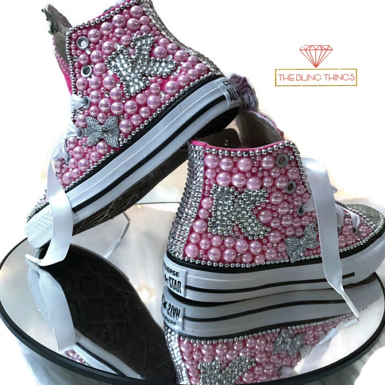 db92c0740a4020 Mermaid Converse Kids Bling Converse Bedazzled Converse