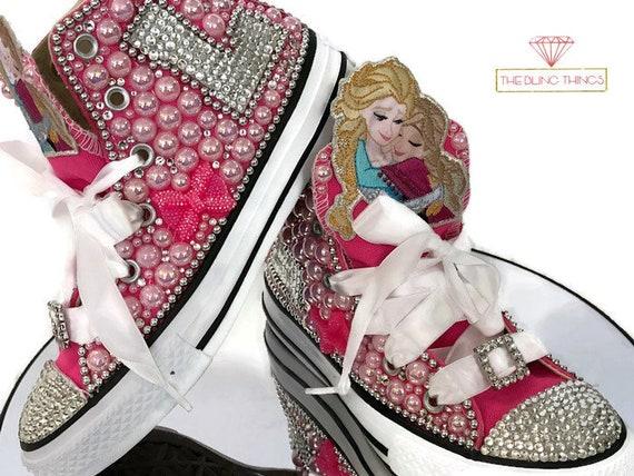 Kids Bling Converse Frozen Bling Converse Ana Bling Shoes  fdfcdd141