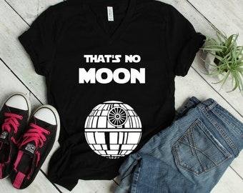 19b06d4449966 That's No Moon Maternity Shirt, Pregnancy Shirt, Death Star Gift, Mother's  Day Gift, Nerdy Mom Gift, Triblend V Neck Nerd Shirt, Plus Sizes,