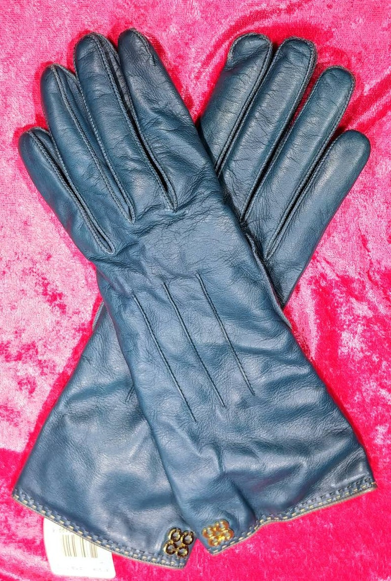 038701943dd9e Coach Women's Leather Gloves Size 7 1/2 Cashmere Lined | Etsy