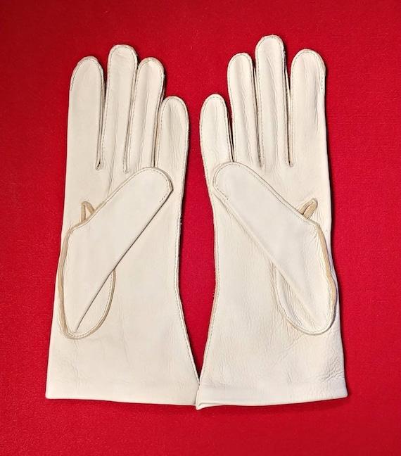Vintage Deerskin Leather Gloves ~ Size 8