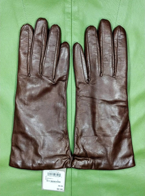Nordstrom Brown Leather Gloves ~ Size 8
