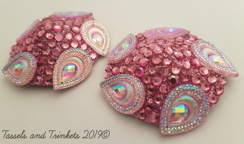 Pink peacock pasties