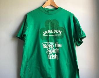de8f5287c16 90s Jameson Irish Green T-shirt L