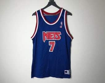 4cbbbfe7315 90s New Jersey Nets Jersey Kenny Anderson - Size 44