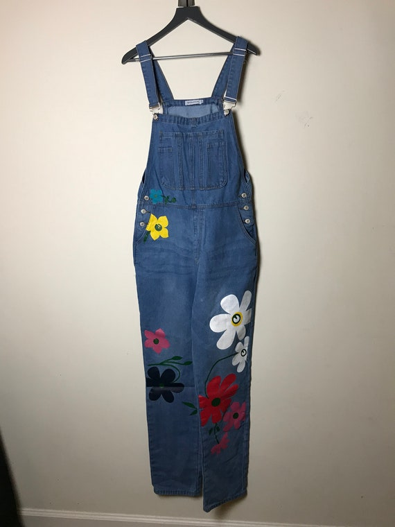Misslook Blue Overalls with Flowers - Size XL