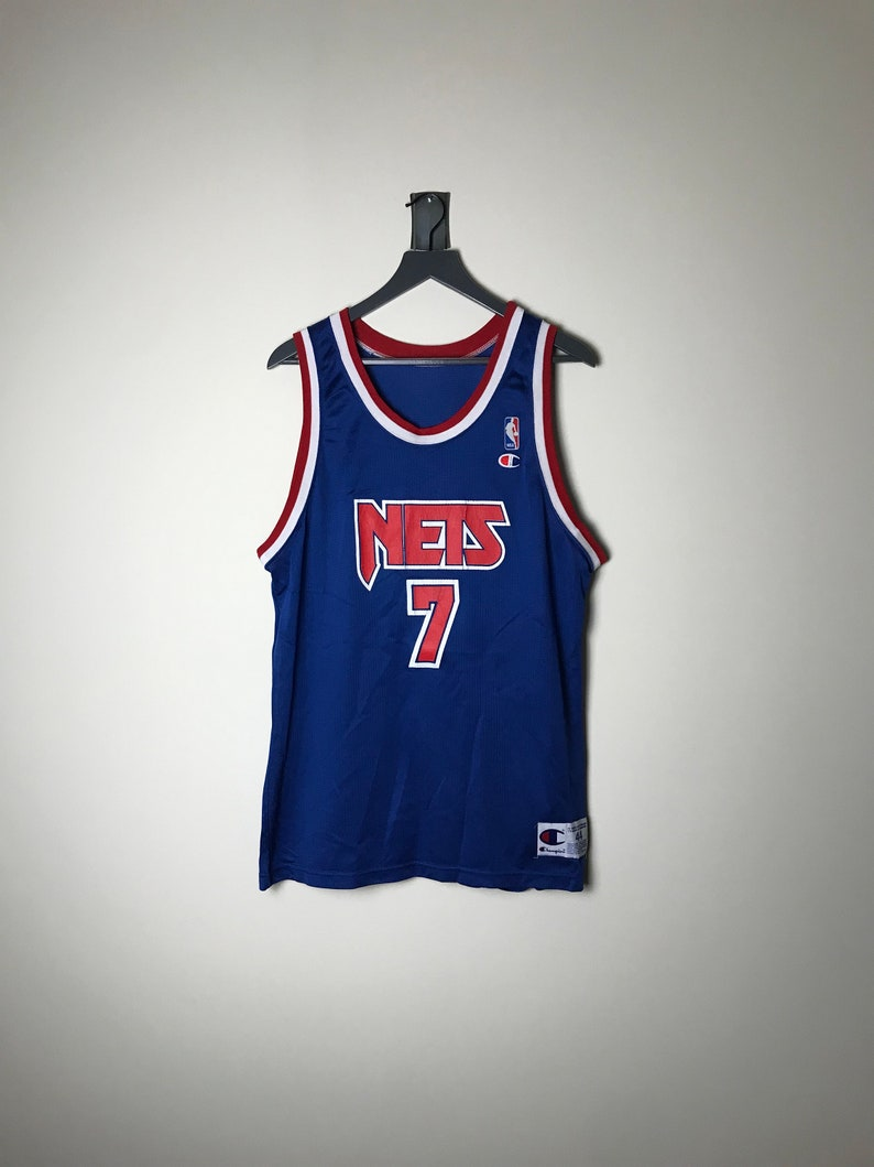 pretty nice f76c5 bf5ed 90s New Jersey Nets Jersey Kenny Anderson - Size 44