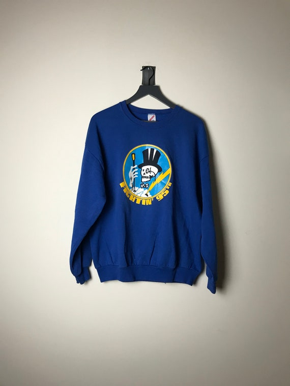 95th Fighter Squadron Mr Bones Sweatshirt in Royal
