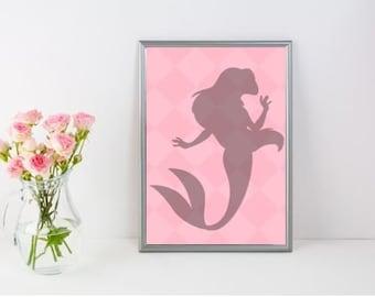 Mermaid Silhouette Print