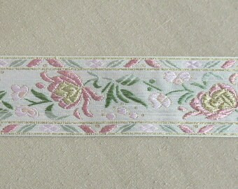 Pink and White Jacquard Trim-2 and 1/4' wide-Trim #6