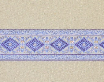 "Purple, Lavender, Metallic Gold ,Jacquard Trim-1 1/4"" wide-Trim #36"