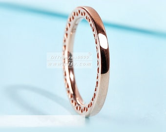 2017 Autumn Release Rose Gold Rose™  Classic Hearts Ring Women Jewelry Size 50,52,54,56,58MM