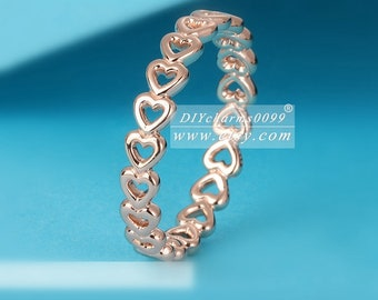 2017 Spring Release Rose Gold Rose™  Linked Love Ring Stackable Ring Women Jewelry Size 50,52,54,56,58MM
