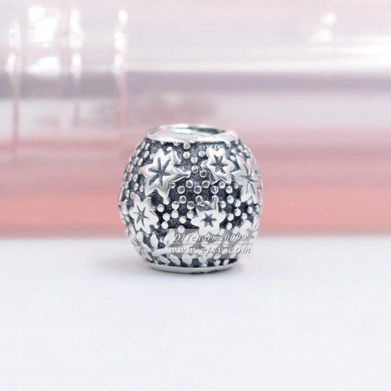 100/% Sterling Silver Disn ey Parks Epcot Floral Charm Fits European Style Bracelets Necklaces