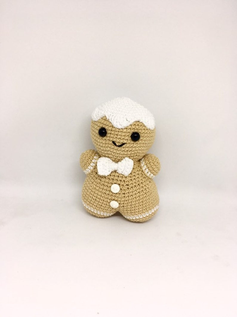 christmas ornament crocheted soft stocking filling hominess accent Amigurumi gingerbread New Year home decor