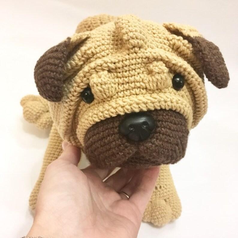 Amigurumi pug crochet pattern - amigurumi dog pattern | Häkeln ... | 794x794
