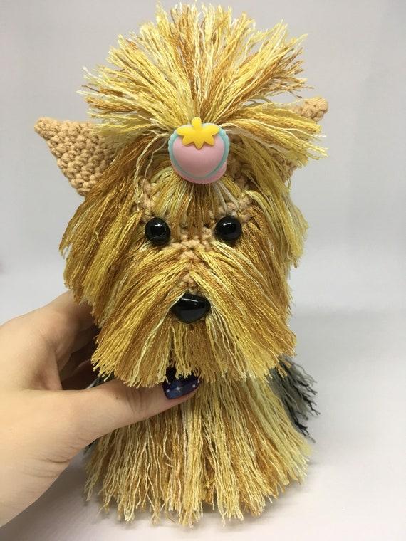 Crochet Amigurumi Yorkshire Terrier Plush Yorkie Dog Etsy