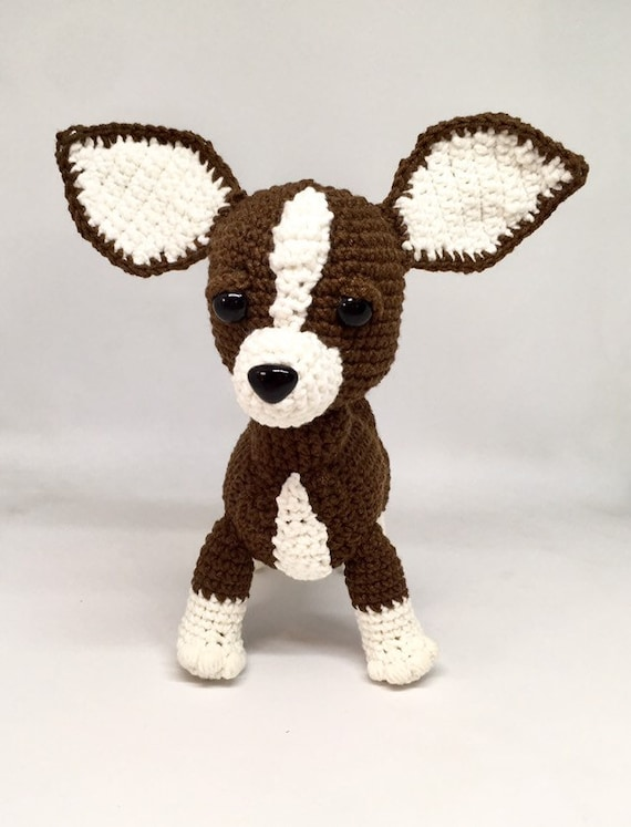 Brown crochet chihuahua is the best present for all Amigurumi dog can be an interior toy or birthday gift for all.