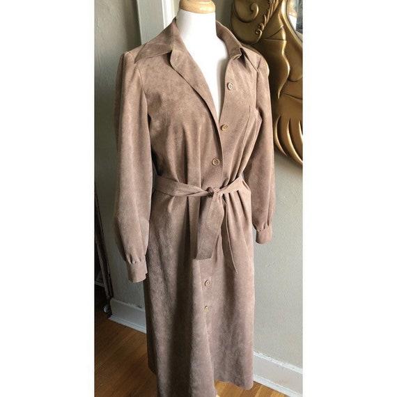 Vintage 70s suede trench coat