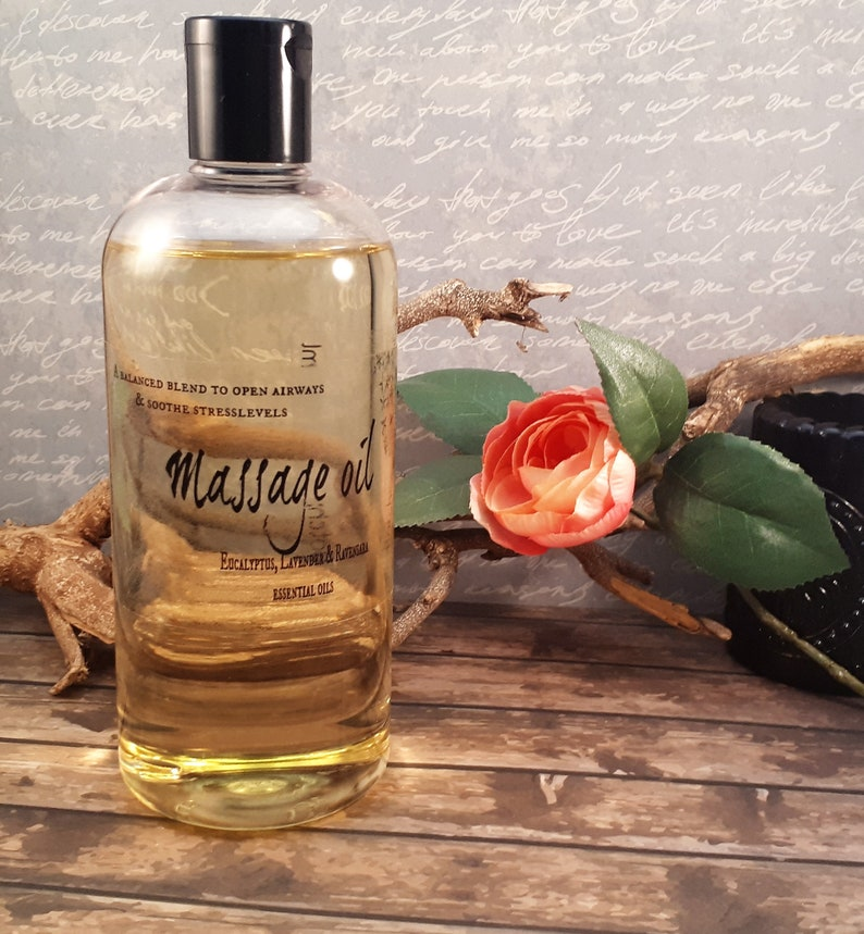 Body & Massage oil, Eucalyptus essential oil, Lavender, Aromatherapy,  Natural skin care, Stress Relief, Vegan, Gift for Him, Birthday gift