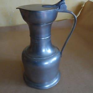 antique French PEWTER de PARIS edep pewter zinn hallmark 19th 20th sugar bowl Sugar Bowl
