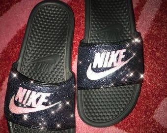 Galaxy Glitter Nike Slides 81273c513