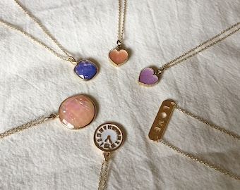 6 styles of delicate gold chain necklaces