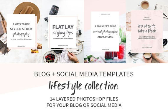 Lifestyle Blog Post and Social Media Image Templates / | Etsy