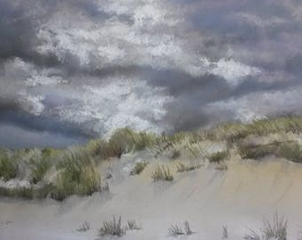 Quality Limited Edition Print from original pastel painting of Norfolk Coastline titled 'Horsey Beach in March'