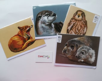 RSPCA East Winch Charity Cards Set of 4