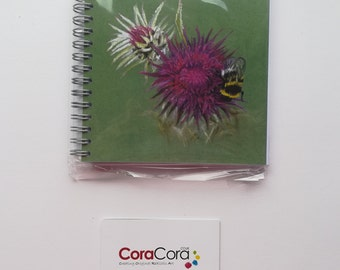 Bumble Bee & Thistle A6 Notebook