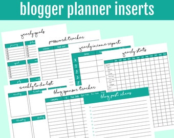Happy Planner Blogger Inserts | Happy Planner Blogger Printable | Happy Planner Blog Planning PDF