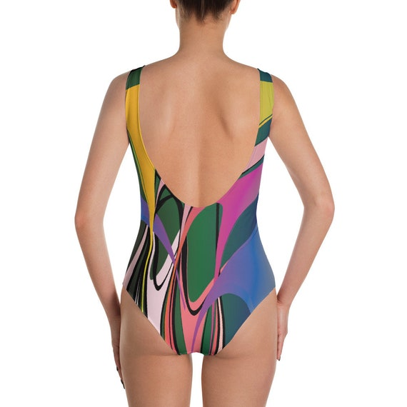 5ac59b21e3 Donatello Funky Graffiti moderne One-Piece Swimsuit