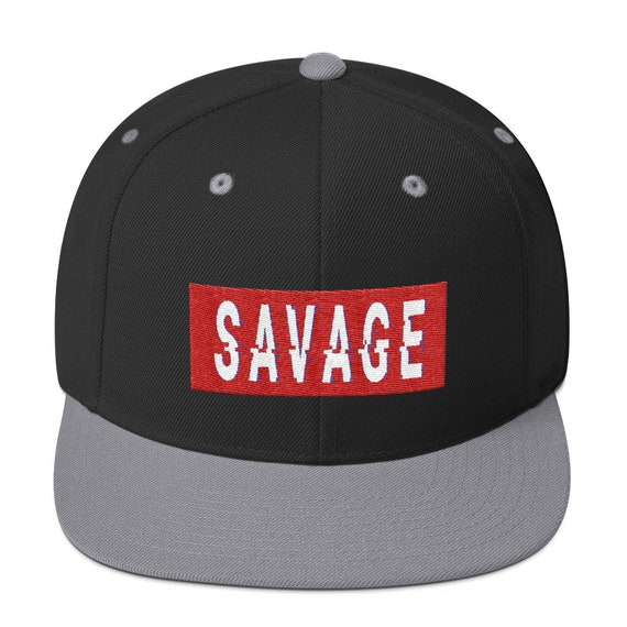 0787bfd90c6 Savage Glitch Snapback Hat Words Millennials Use Yupoong 6089M