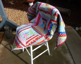Scrappy String Quilted Table Topper