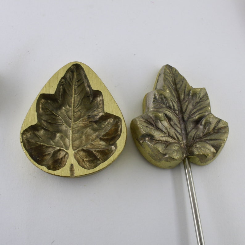 MILLINERY Flower making iron Leaf Petal Mould silk 7cm