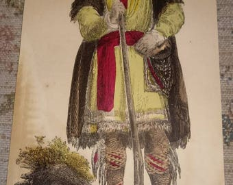 Indian hand colored prints