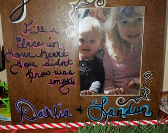 Made to order custom picture frames or wall hanging frame.
