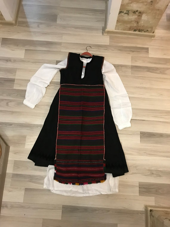 Bulgarian folk costume -Vintage traditional Bulgar