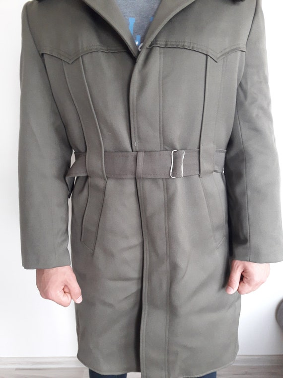 Vintage military greatcoat- Bulgarian Officer lon… - image 2