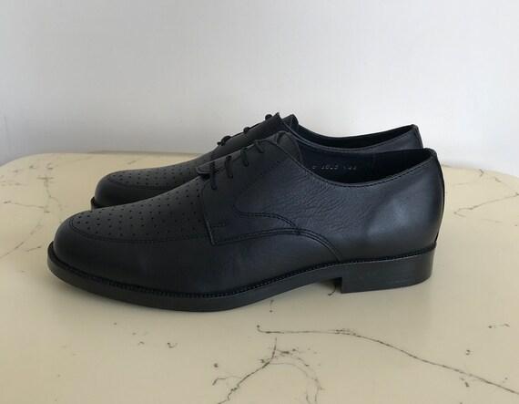 c070342466239 Vintage Bulgarian army shoes - parade black military shoes - new shoes -  parade shoes - leather parade shoes - officer shoes -official shoes