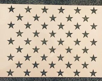 50 stars stencil | Etsy